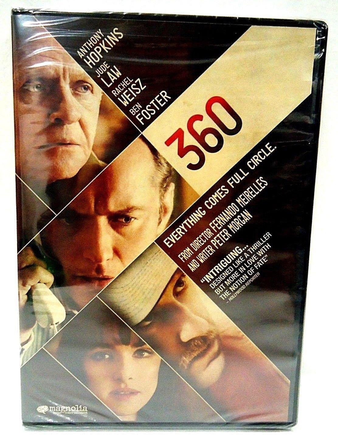 360 - DVD - ANTHONY HOPKINS - JUDE LAW - NEW - ROMANCE - THRILLER - CRIME - FILM