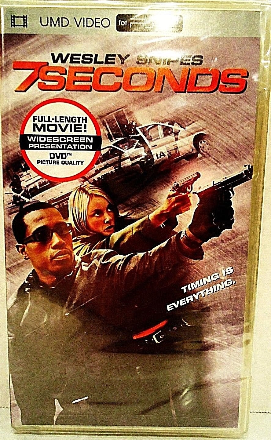 7 SECONDS - UMD - SONY - PSP - DVD - WESLEY SNIPES - WIDESCREEN - NEW - MOVIE