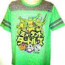 TEENAGE MUTANT NINJA TURTLES - GREEN - GRAY - VARSITY - LARGE - T-SHIRT - NEW