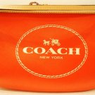 COACH - HORSE - CARRIAGE - RED - BEIGE - LEATHER - WRISTLET - PURSE - BRAND NEW