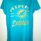 MAJESTIC - MIAMI - DOLPHINS - NFL - TEAM - T-SHIRT - NEW - ORANGE - AQUA - XL