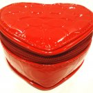 COACH - RED - HEART - MIRROR - JEWELRY - POUCH - NEW +  FREE - COACH - KEY CHAIN