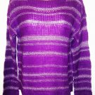 GLIMMER - BY J.J. BASICS - PURPLE - KNITTED - SWEATER - MEDIUM - NEW - MACY'S