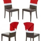 HOME ELEMENTS - CHRISTMAS - HOLIDAY - SANTA - HAT - DINING - CHAIR - COVER - NEW