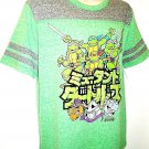 TEENAGE MUTANT NINJA TURTLES - GREEN - GRAY - CARTOON - MEDIUM - T-SHIRT - NEW