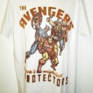 MARVEL - THE AVENGERS - RETRO - LARGE - T-SHIRT - NEW - IRON MAN - THOR - HULK