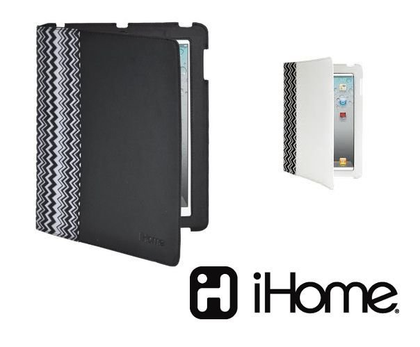 iHOME - iPAD - 2 - NEW iPAD - ZIGZAG - FASHION - FOLIO - CASE - WHITE - NEW