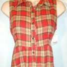 MACY'S - M STYLE LAB - VOGUE - PLAID - RED - BALLET - DRESS - BRAND NEW - SMALL