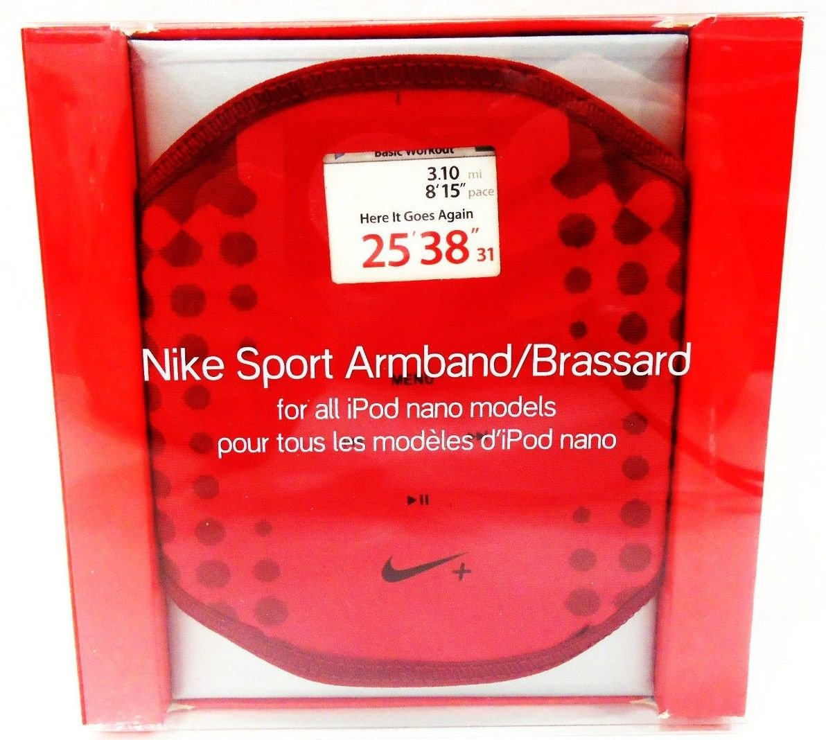 NIKE - SPORT - ARMBAND - APPLE - iPod - NANO - NEW - SEALED - RED - ALL MODELS