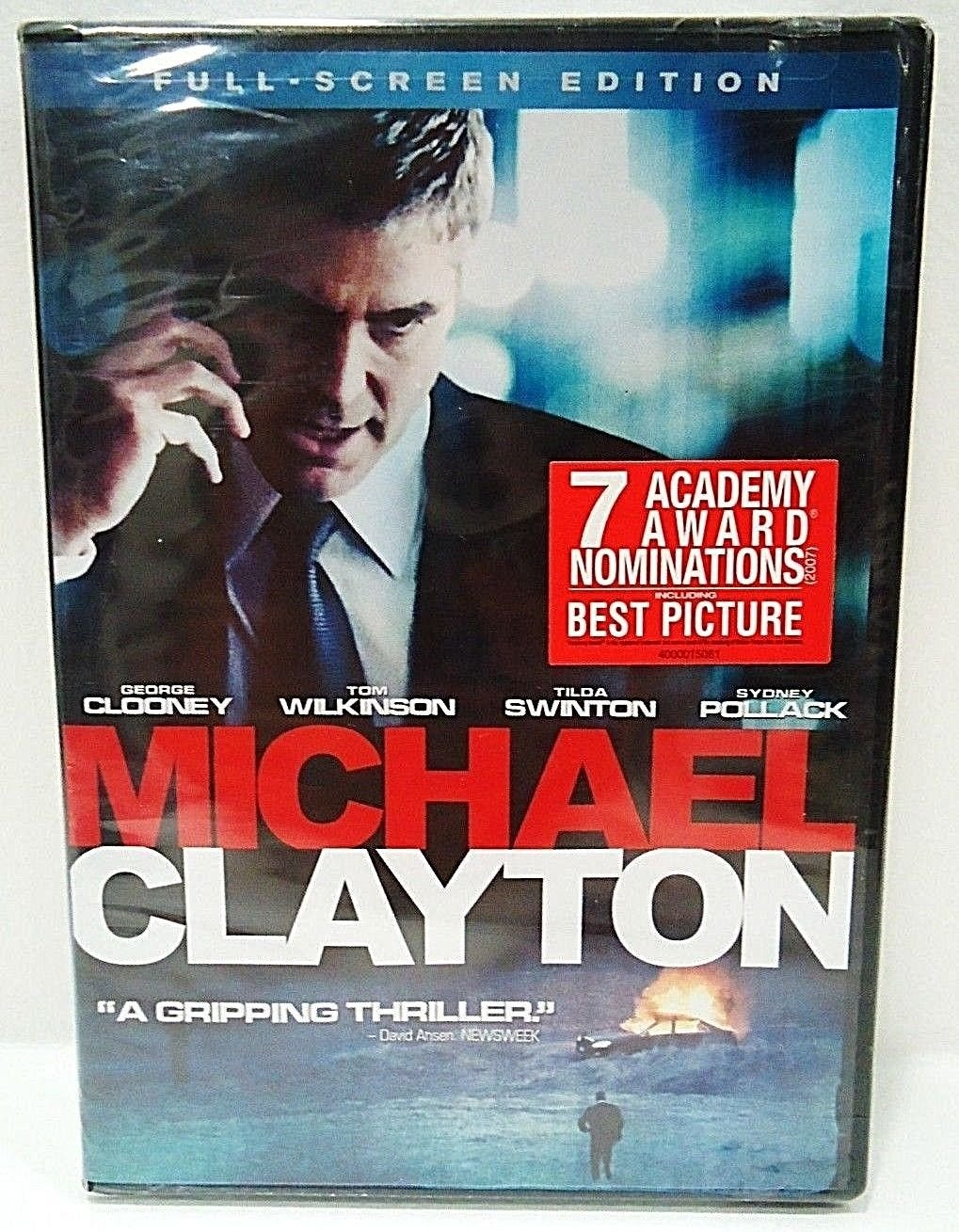 MICHAEL CLAYTON - DVD - GEORGE CLOONEY - BRAND NEW - SEALED - THE FIRM - MOVIE