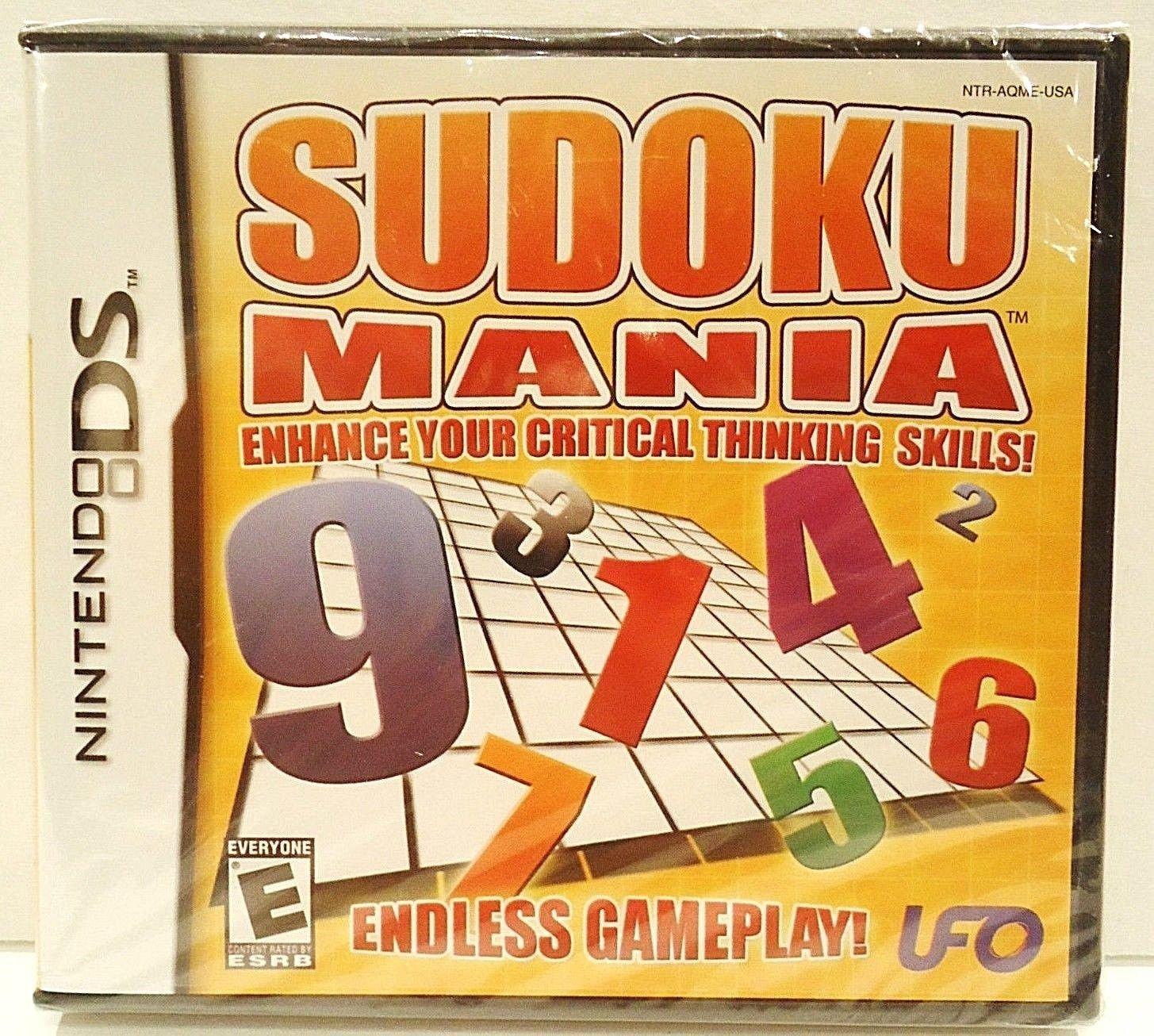 NINTENDO - DS - SUDOKU - MANIA - NEW - VIDEO - GAMES - DS LITE - DSi - DSi  XL