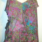 JESSICA SIMPSON - BLAIRE - GRAFFITI - FLORAL - BLOUSE - MEDIUM - SHIRT - NEW