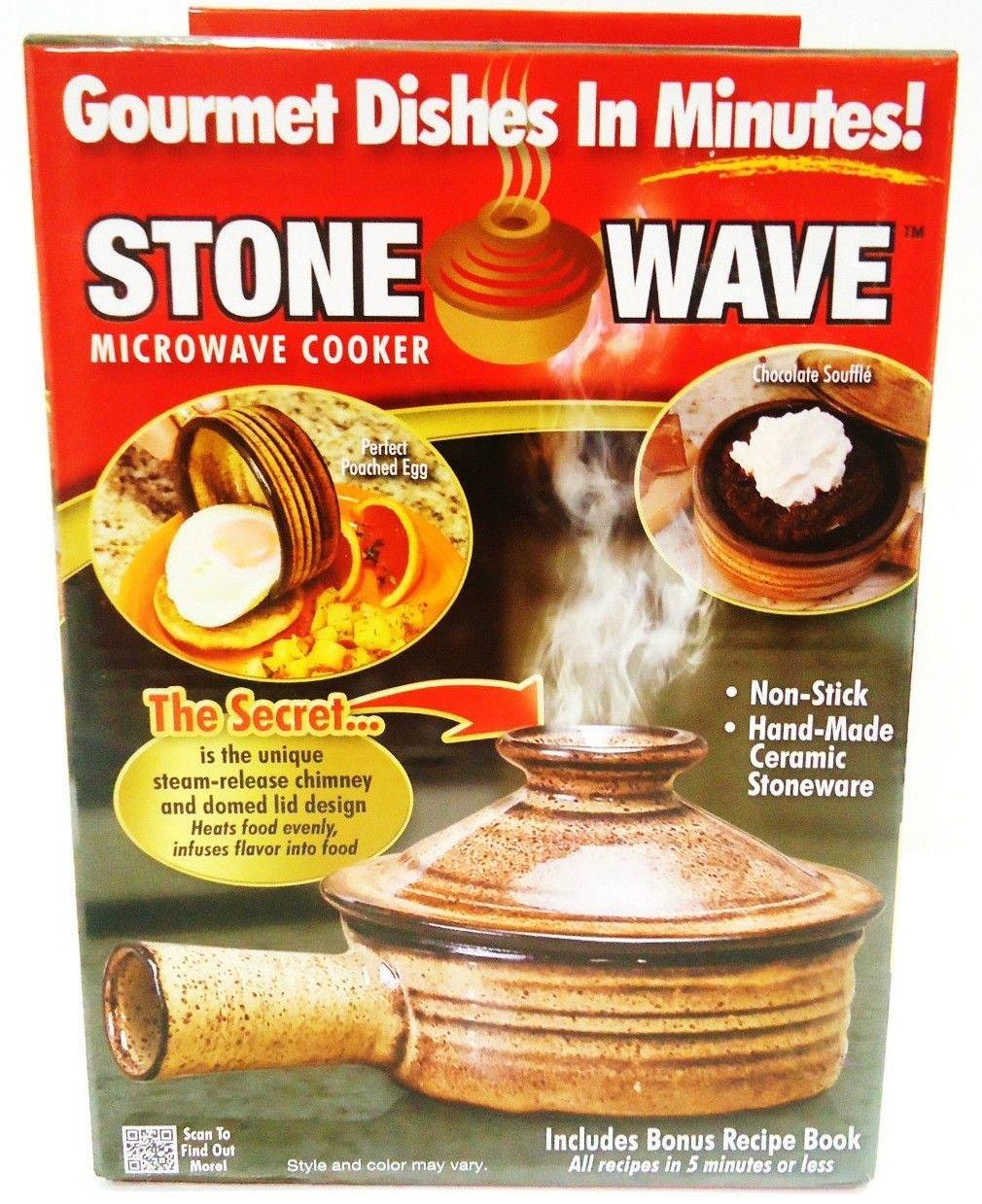 STONE WAVE - MICROWAVE - NON-STICK - STONEWARE - COOKER - RECIPE - BOOK - NEW