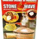 STONE WAVE - MICROWAVE - NON-STICK - STONEWARE - COOKER - RECIPE - BOOK - NEW