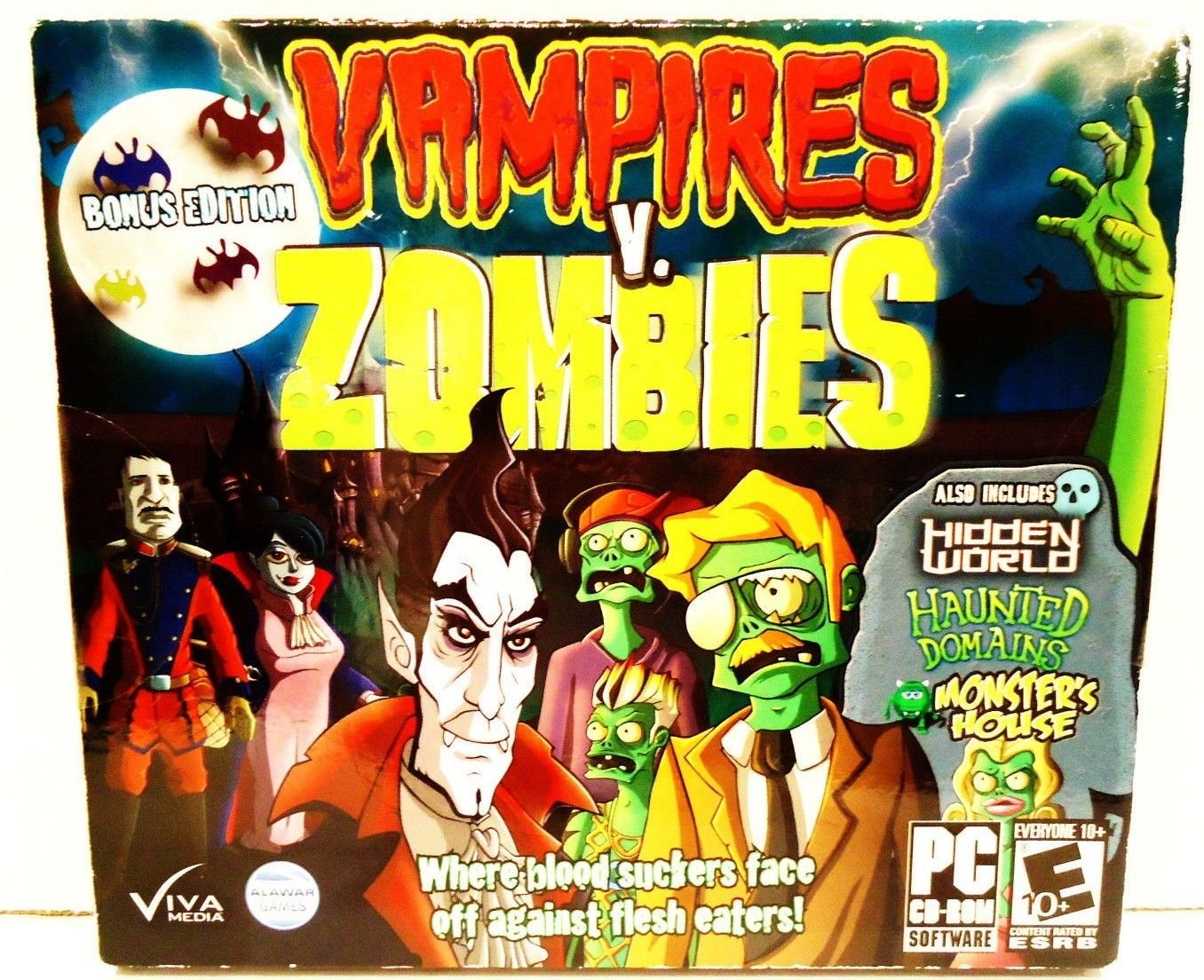 VAMPIRES V, ZOMBIES - BONUS EDITION - PC - COMPUTER - VIDEO - GAME - BRAND NEW