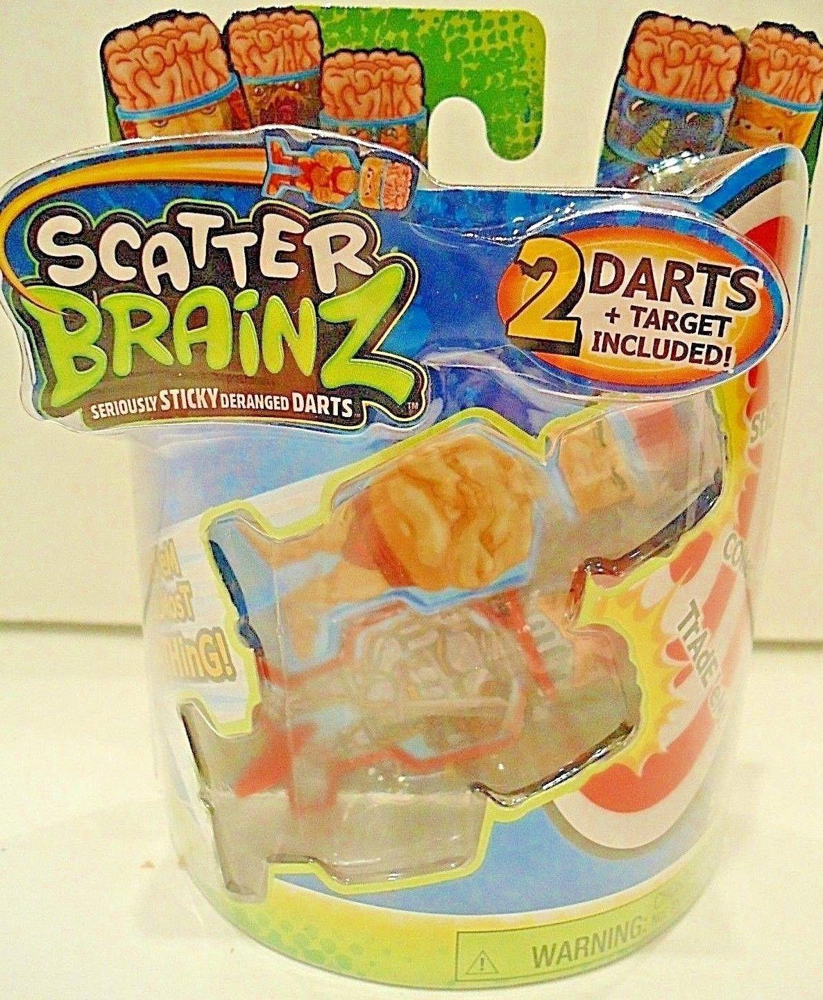 SCATTER BRAINZ - SERIES 1 - DARTS -  2 DARTS & TARGET PACK - NEW - SEALED - NERF