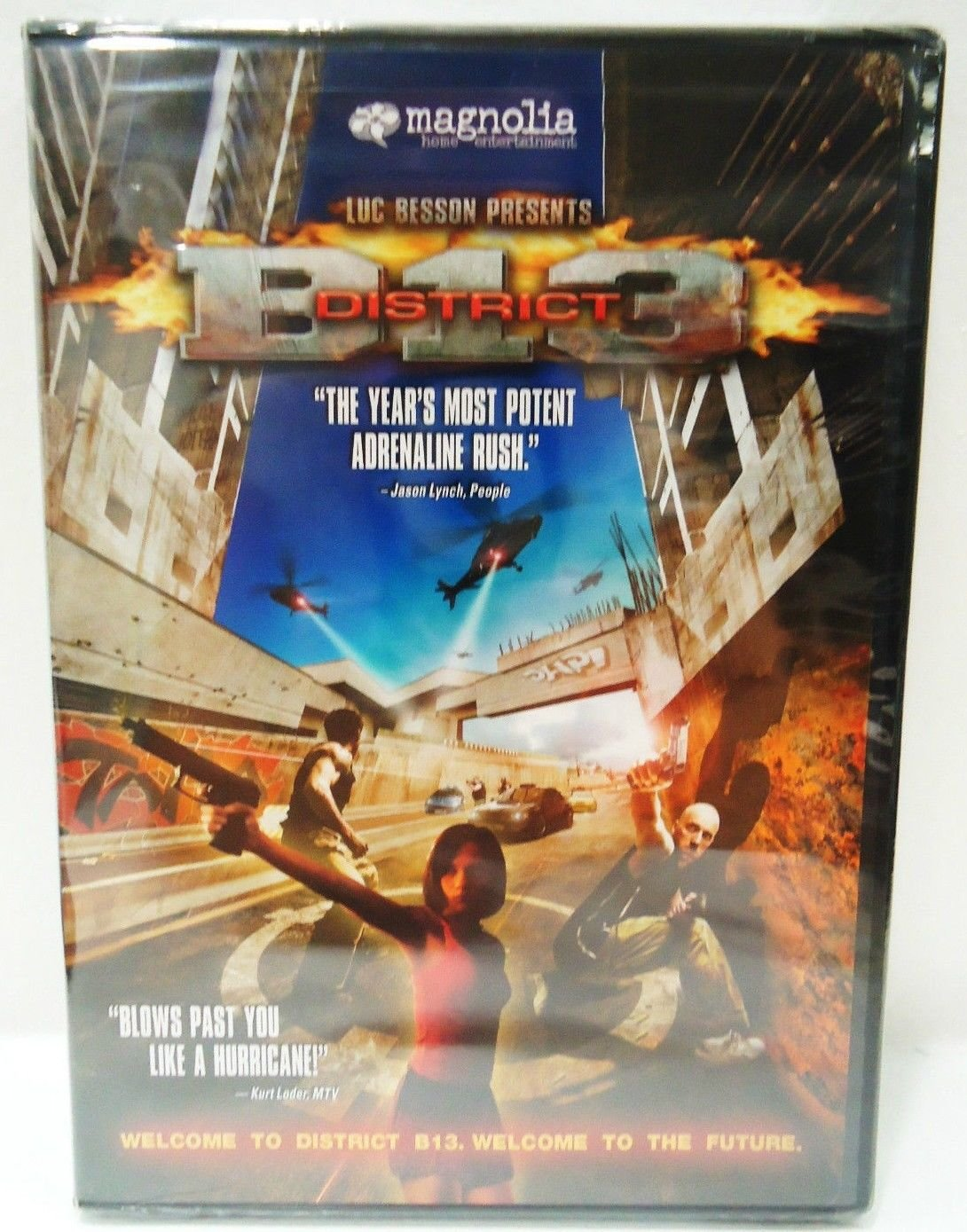 DISTRICT B-13 - DVD - LUC BESSON - BRAND NEW - SEALED - ACTION - FUTURE - MOVIE
