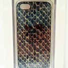 COACH - iPHONE 5 - 5s - SNAKE - PRINT - CELL PHONE - CASE  - BRAND NEW + BONUS