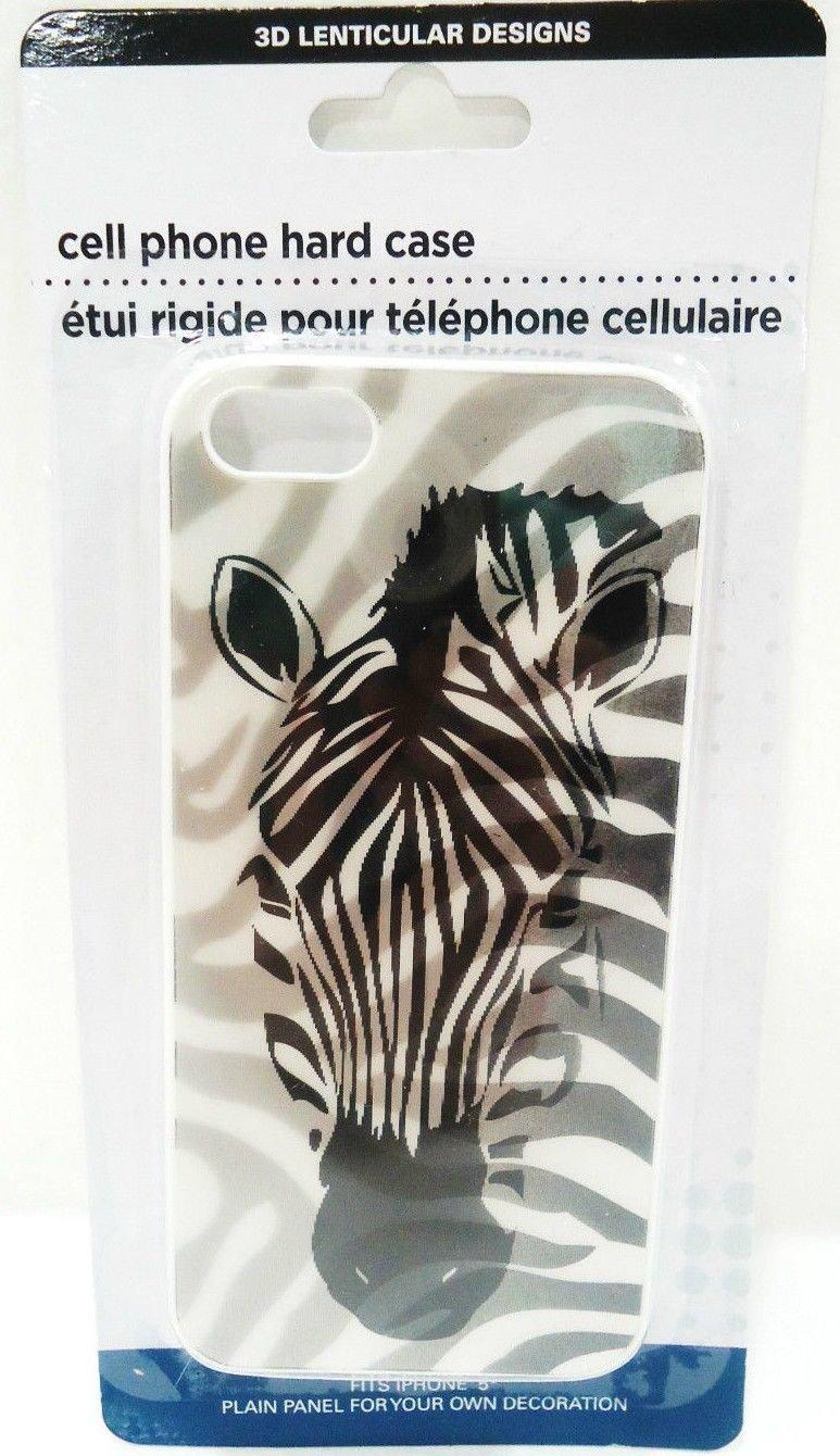 iPHONE - 5 - 3D - LENTICULAR - ZEBRA - CELL PHONE - HARD - CASE - BRAND NEW