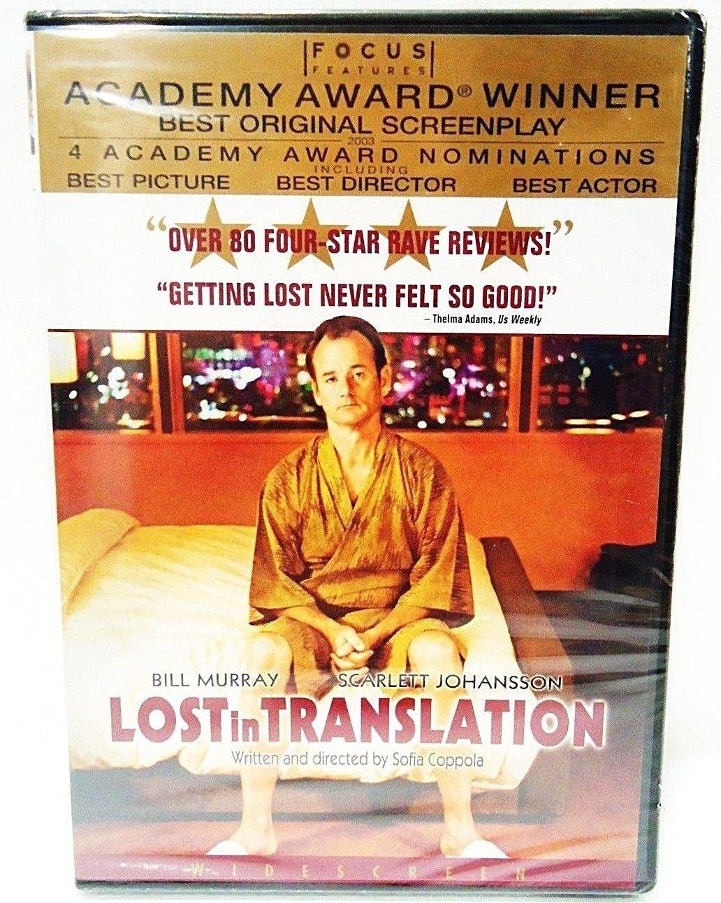 LOST IN TRANSLATION - DVD - BILL MURRAY - SCARLETT JOHANSSON - COMEDY - MOVIE