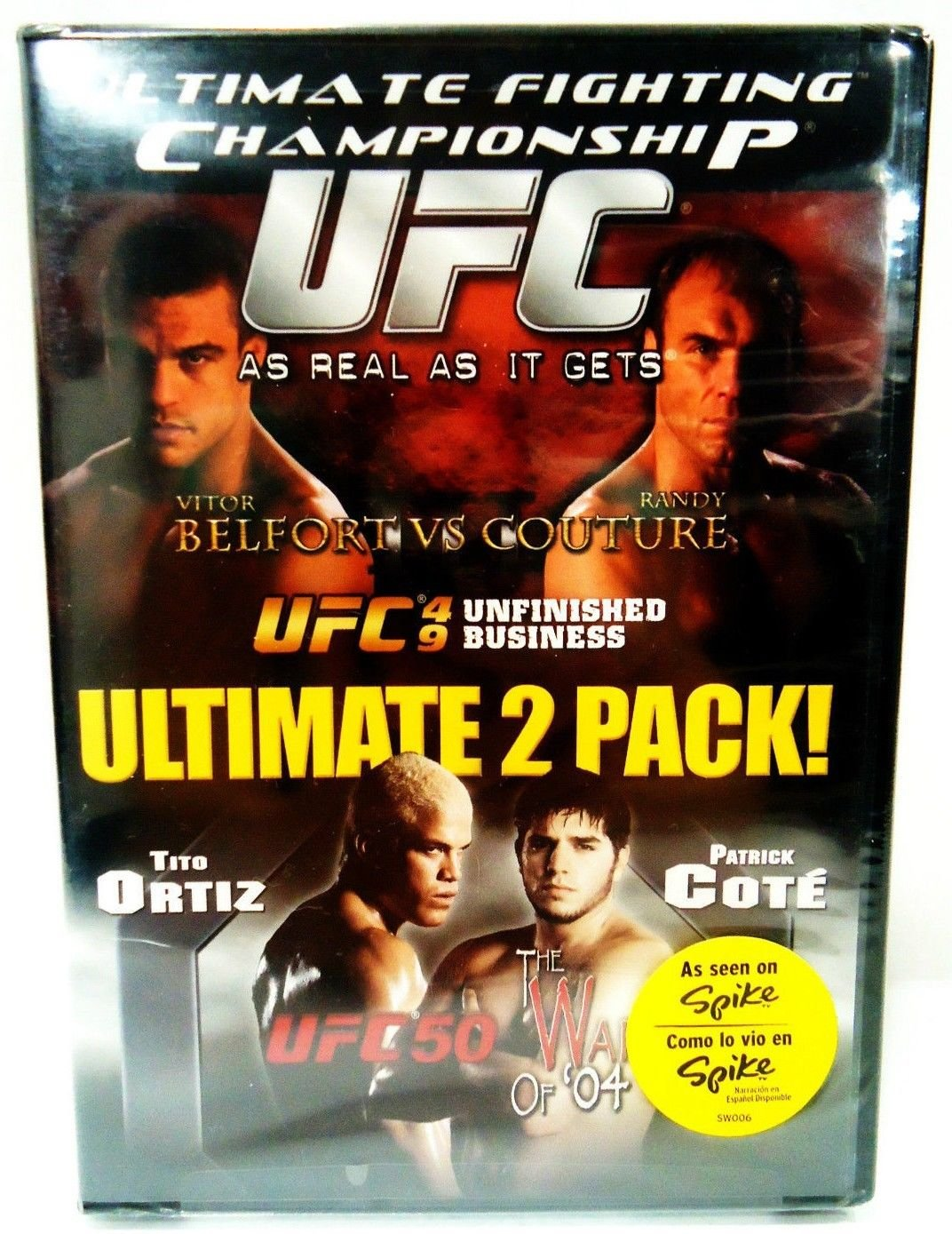 UFC 49 - DVD - 2 PACK - RANDY COUTURE - UFC 50 - TITO ORTIZ - MMA - NEW - SEALED