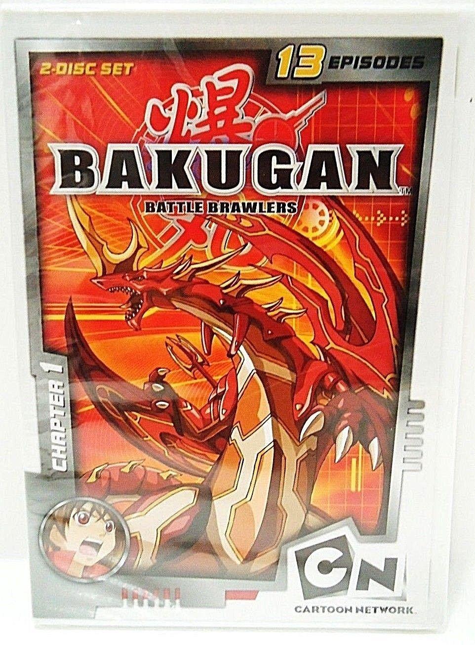BAKUGAN - BATTLE BRAWLERS - DVD - CHAPTER 1 - 2 DISC SET - NEW - CARTOON - ANIME