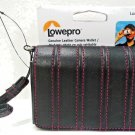 LOWEPRO - UNIVERSAL - BLACK - PINK - LEATHER - CAMERA - WALLET - NEW - SAMSUNG