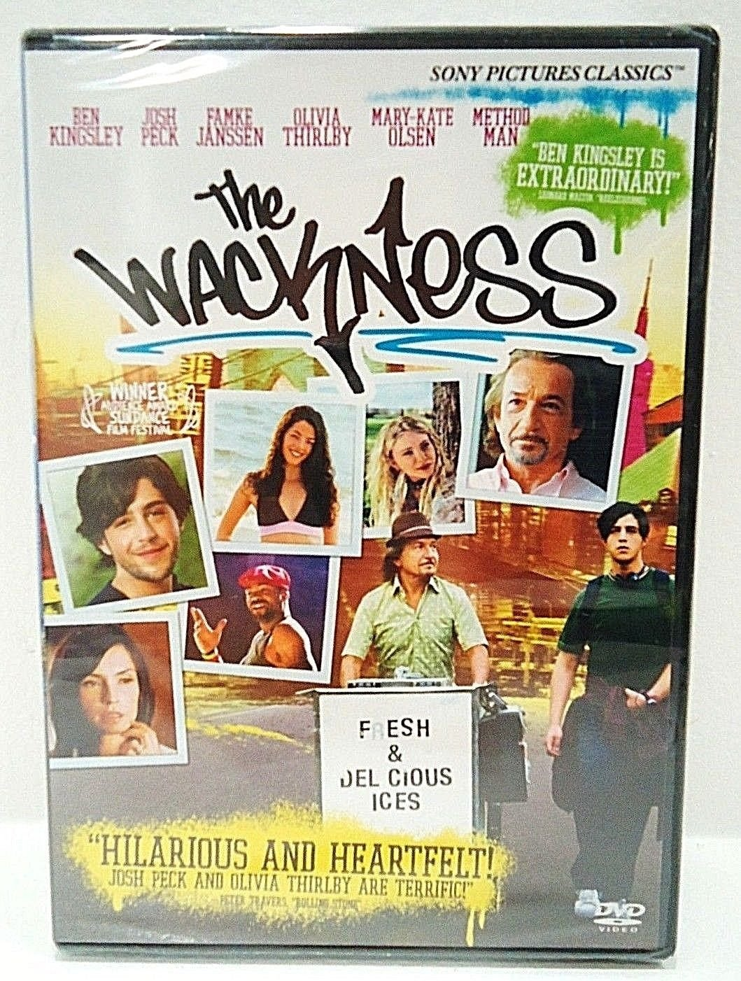THE WACKNESS - DVD - BEN KINGSLEY - JOSH PECK - NEW - SEALED - COMEDY - MOVIE