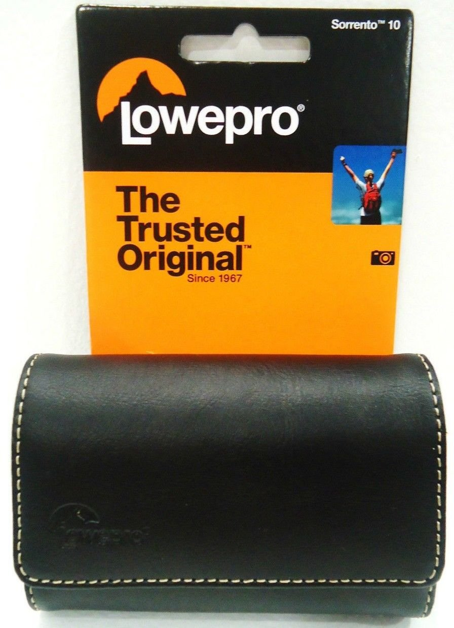 LOWEPRO - UNIVERSAL - BLACK - SUEDE - LEATHER - CAMERA - CASE - BRAND NEW - SONY