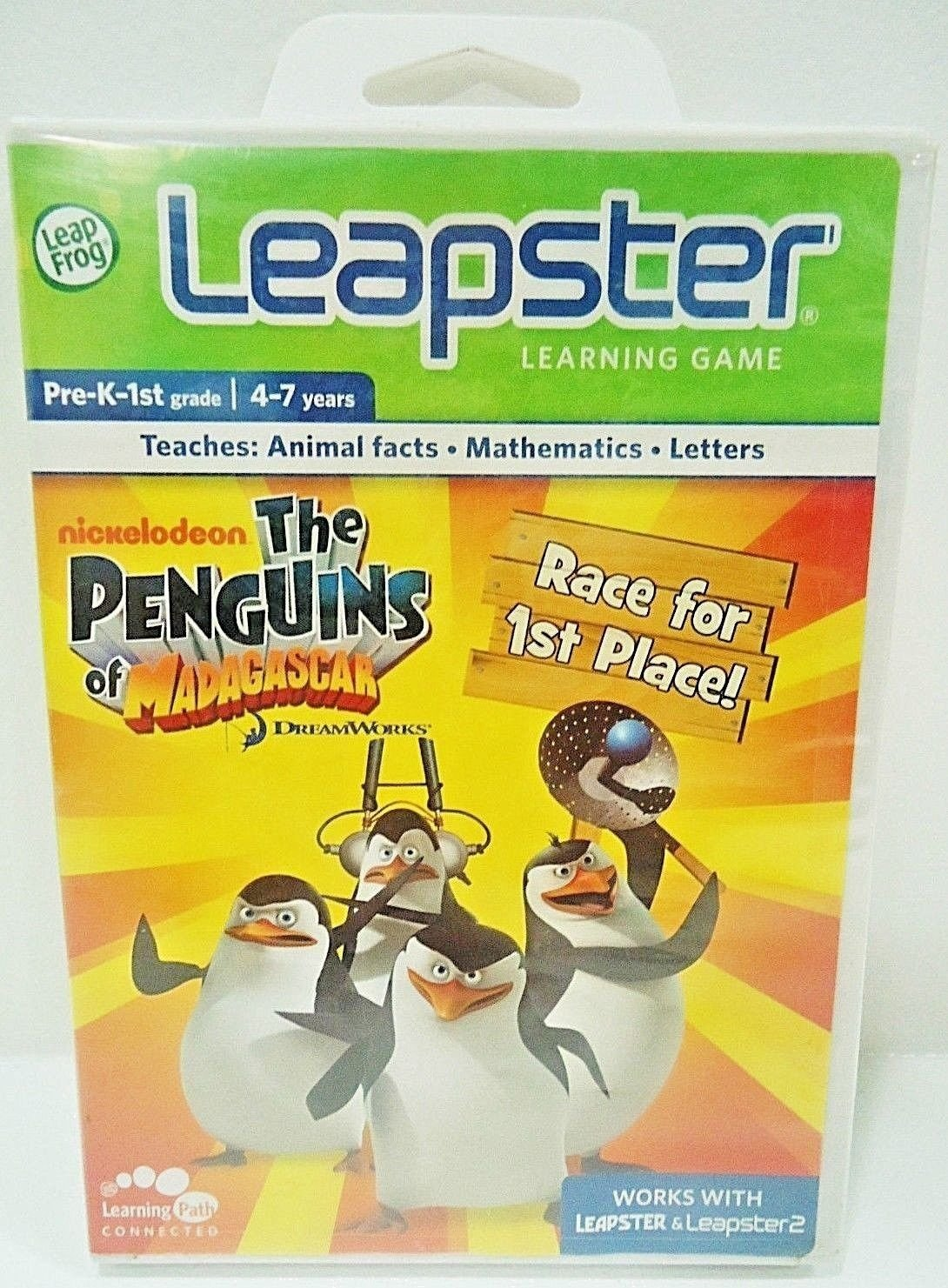 LEAP FROG - LEAPSTER - MADAGASCAR - PRE-K - 1ST GRADE - LEARNING GAME - NEW