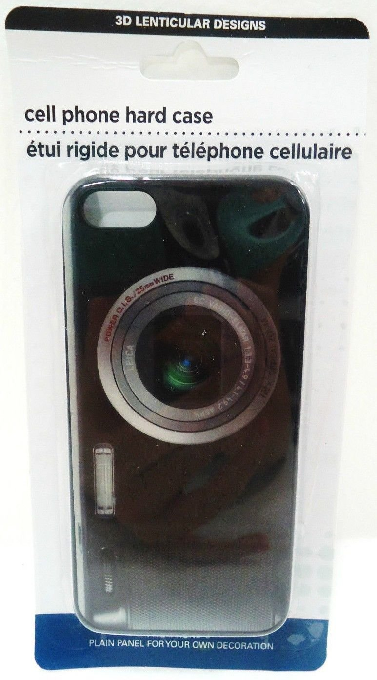 iPHONE - 4 - 4S - 3D - LENTICULAR - CAMERA - CELL PHONE - HARD - CASE - NEW