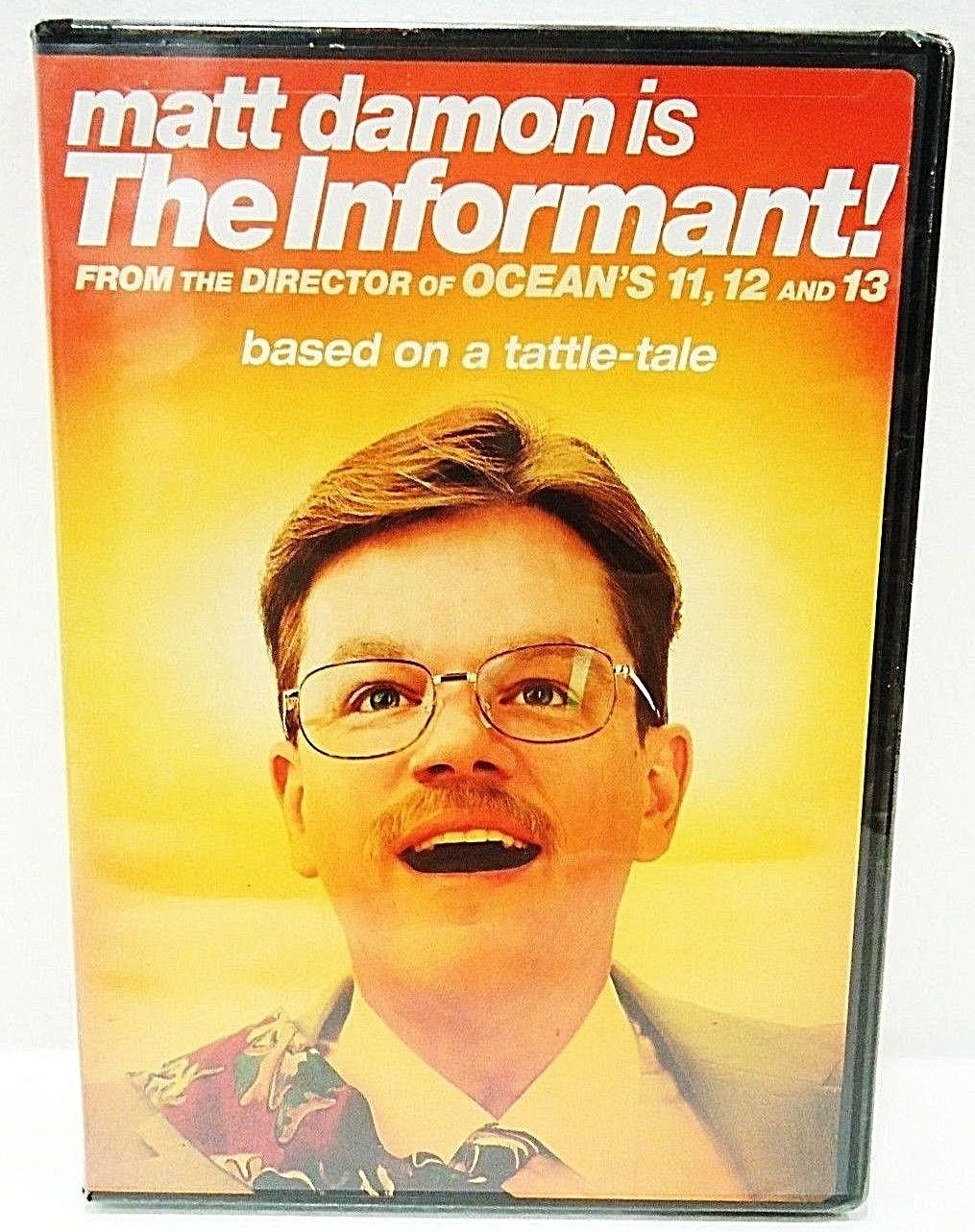 THE INFORMANT - DVD - MATT DAMON - BRAND NEW - SEALED - COMEDY - MOVIE