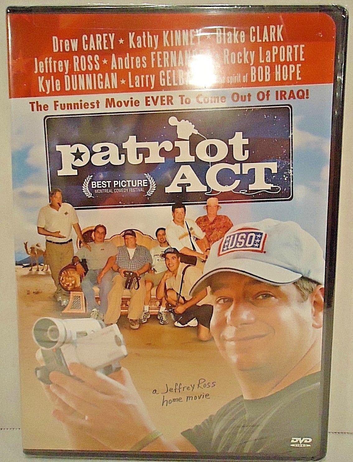 PATRIOT ACT - JEFFERY ROSS - DVD - DREW CAREY -  NEW - COMEDY - WAR - MOVIE