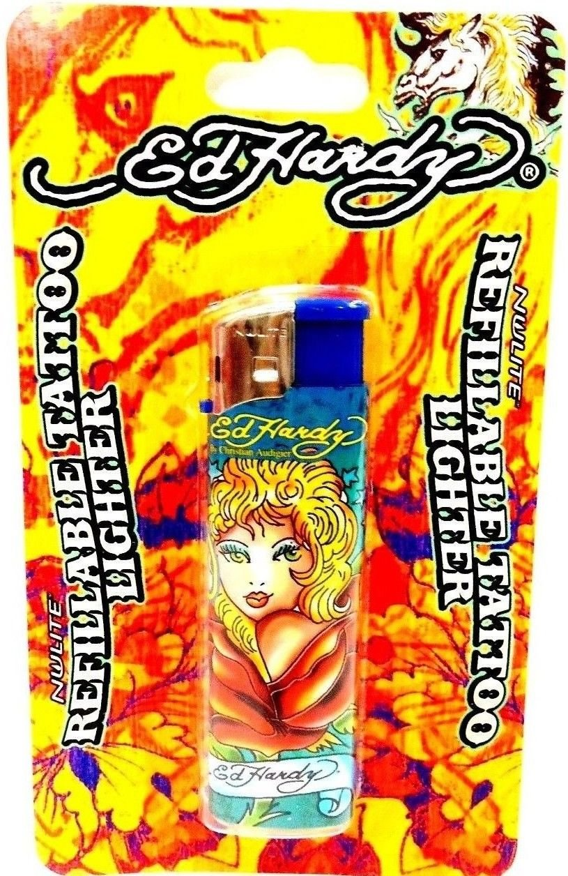 ED HARDY - CHRISTIAN AUDIGIER - REFILLABLE - TATTOO - LIGHTER - SEXY LADY - NEW