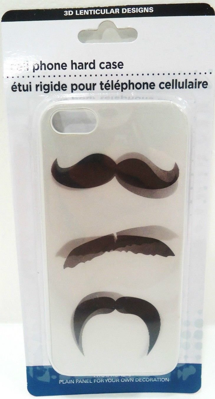 iPHONE - 5 - 3D - LENTICULAR - MOUSTACHE - CELL PHONE - HARD - CASE - BRAND NEW