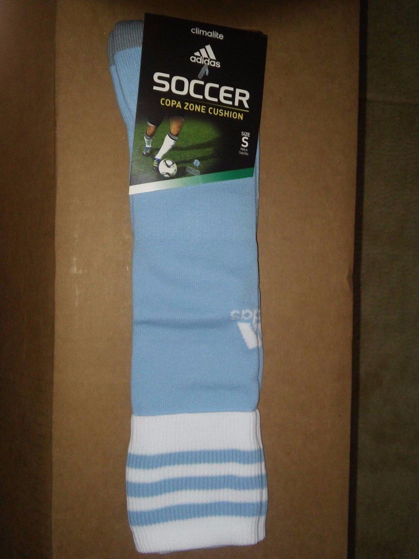 NEW adidas Copa Zone Cushion II Sock Argentina Blue White Small