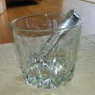 Ice Bucket ~ Princess House etched Heritage pattern hammered claw thongs