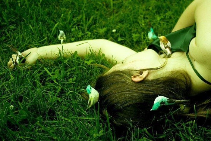 bird girl - 8x12 print