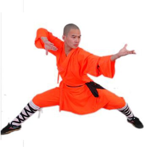 3.1.8.160 Orange Shaolin monk longsleeve uniform