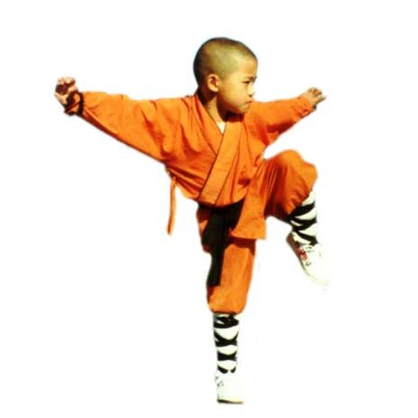 3.1.8.130 Orange Shaolin monk kids uniform