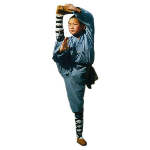 3.1.3.130 Gray/blue Shaolin monk kids uniform