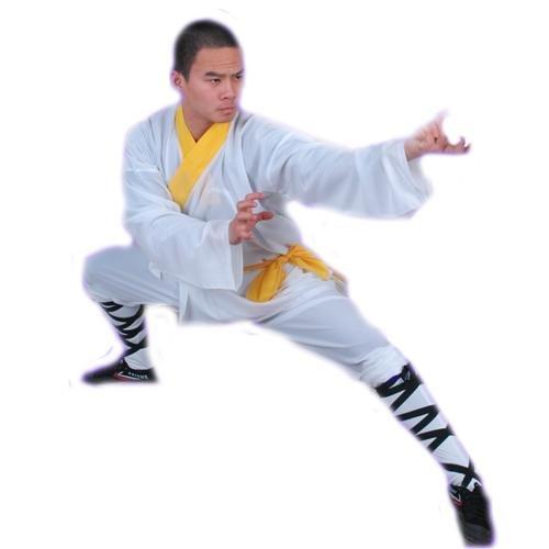 3.1.1.190 White Shaolin monk longsleeve uniform
