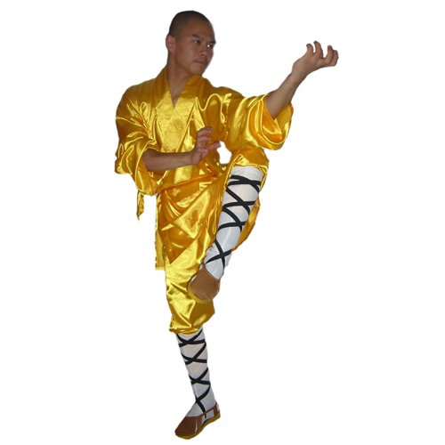 3.1.5.190 Yellow Shaolin monk longsleeve uniform