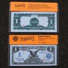 $1 Silver Certificate 1899 UNC Crisp Reproduction New Sealed Retail Dollar Bill (Medium)