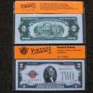 $2 Silver Certificate 1928 UNC Crisp Reproduction New Sealed Retail Dollar Bill (Medium)