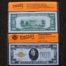 $20 Gold Seal 1928 UNC Crisp Reproduction New Sealed Retail Dollar Bill (Medium)