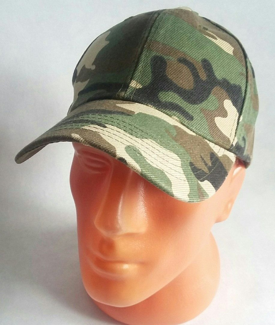 Men Style Sport Baseball Cap New Hat Adjustable Camouflage green