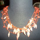 Shell & beads necklace
