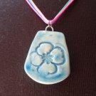 Little blue flower necklace