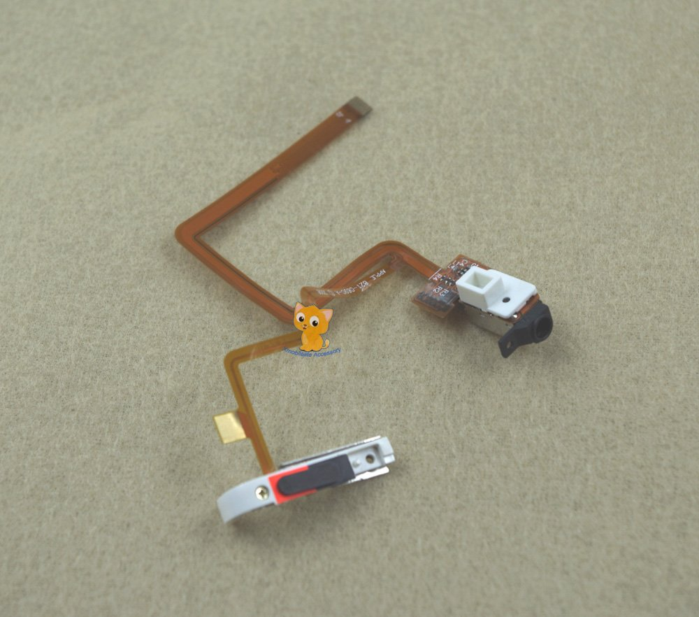 Black Thick Headphone Audio Jack Hold Switch Flex Ribbon Cable for iPod 6th gen Classic 160GB